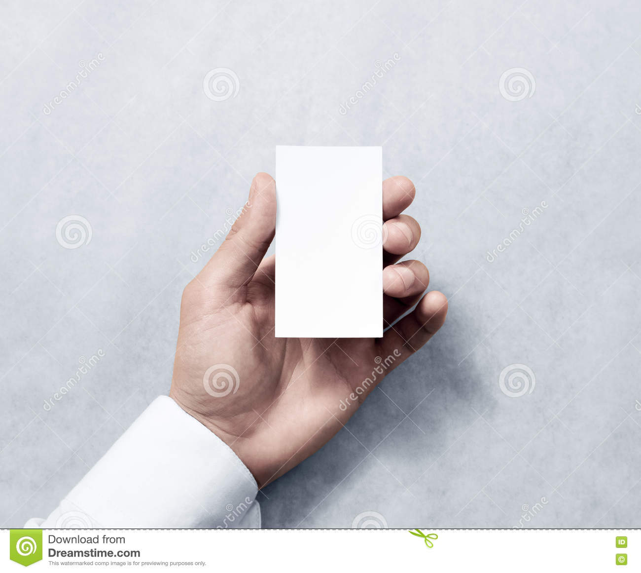 Hand holding blank vertical white business card design mockup stock hand holding blank vertical white business card design mockup royalty free stock photo reheart Images