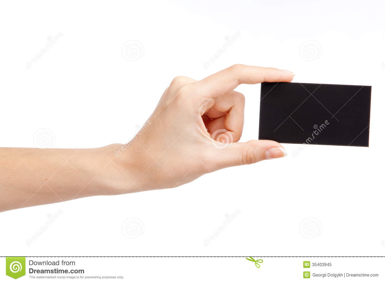 Hand Holding A Business Card Stock Image - Image of communication ...