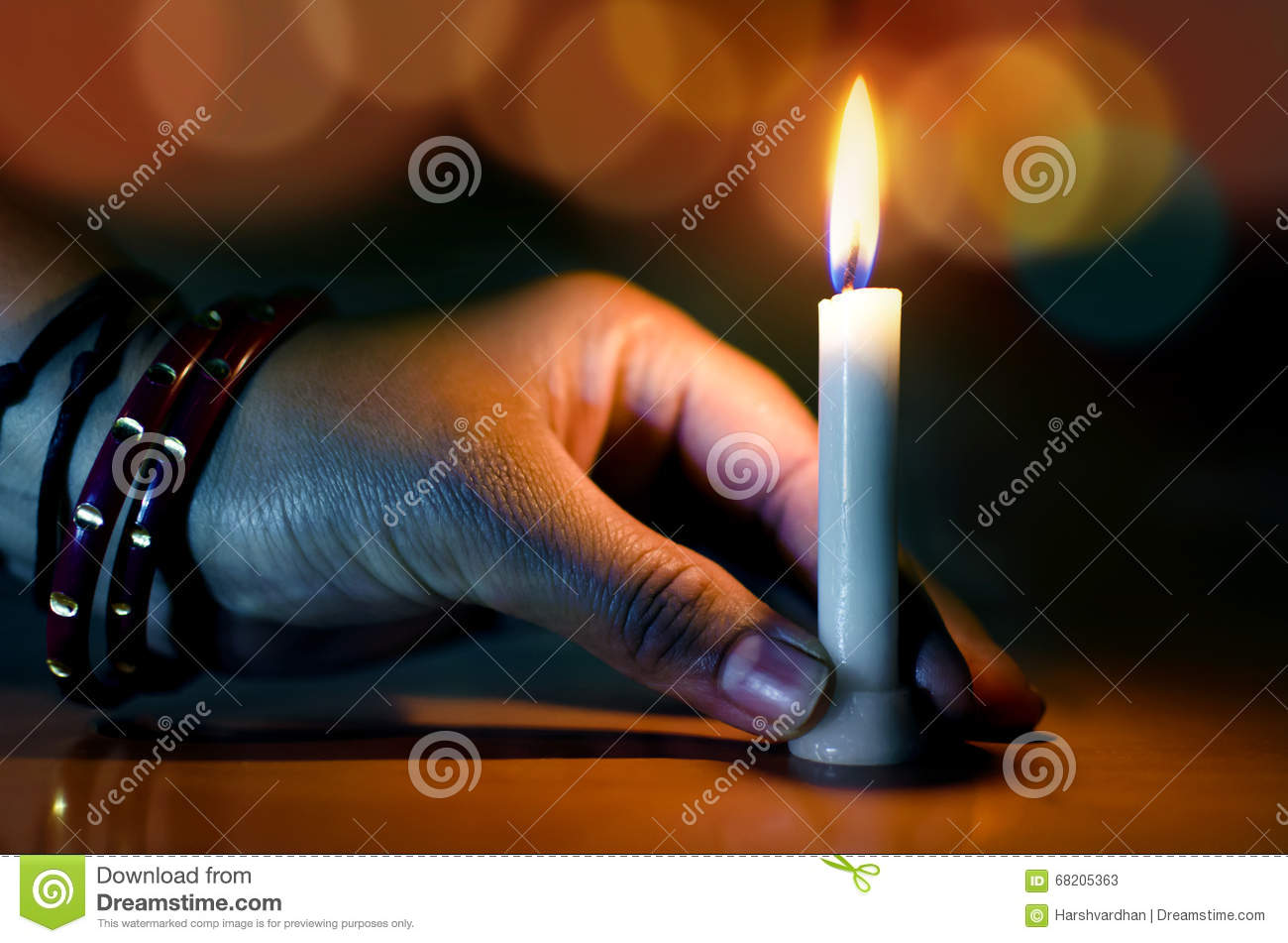 Hand Holding Candle In The Dark Night Bokeh Stock Image - Image ... for Holding Candle In The Dark  585ifm