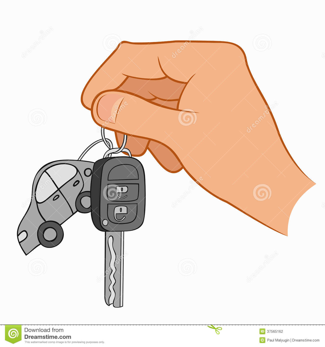 Drivers Awake To Find Cars Keyed In Penwortham: Hand Holding Car Keys Stock Photography