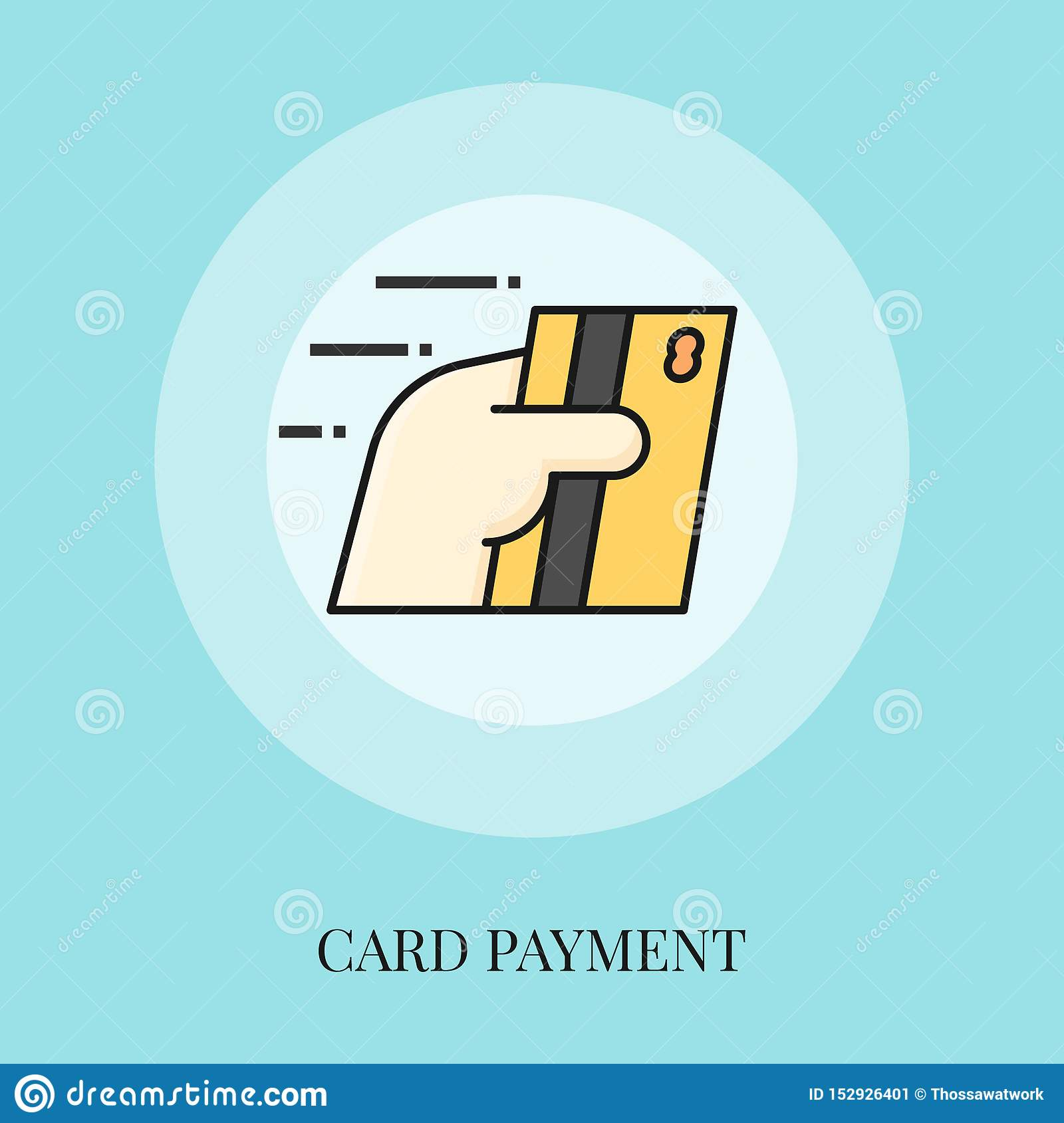 Hand holding card, Card payment concept
