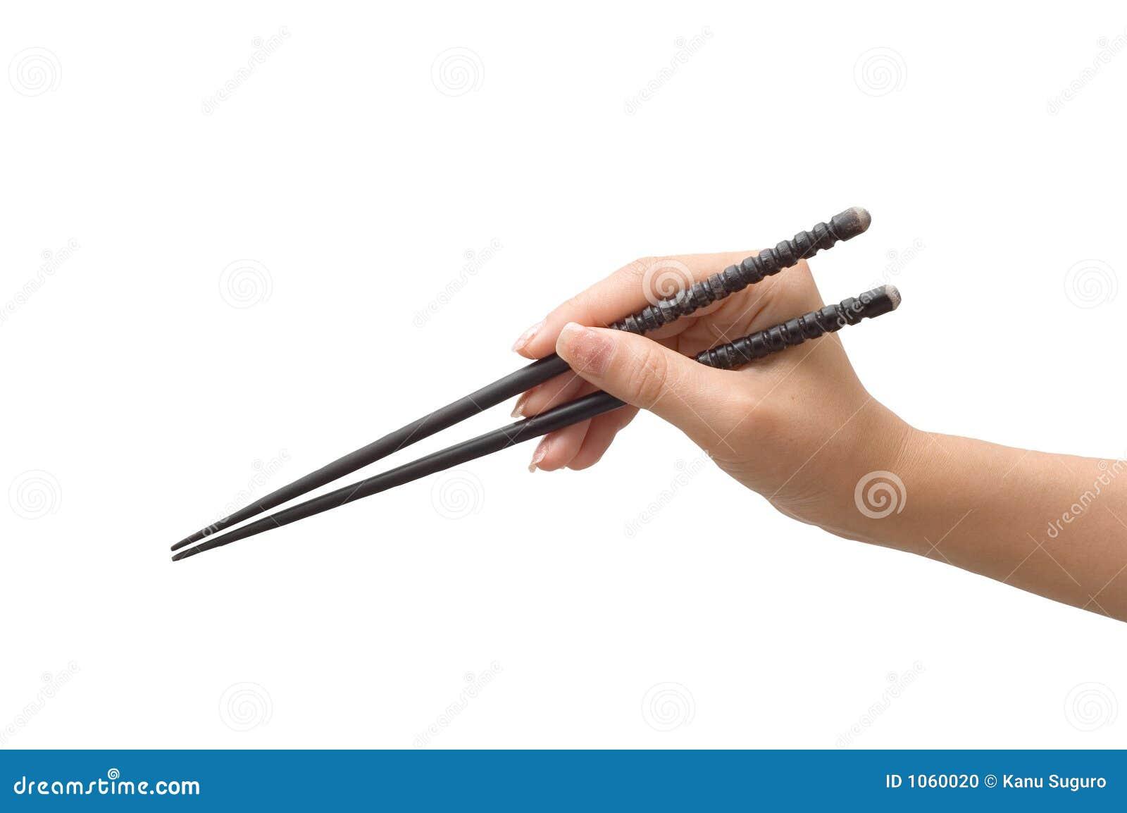 Hand Holding Chopsticks Stock Photo Image 1060020