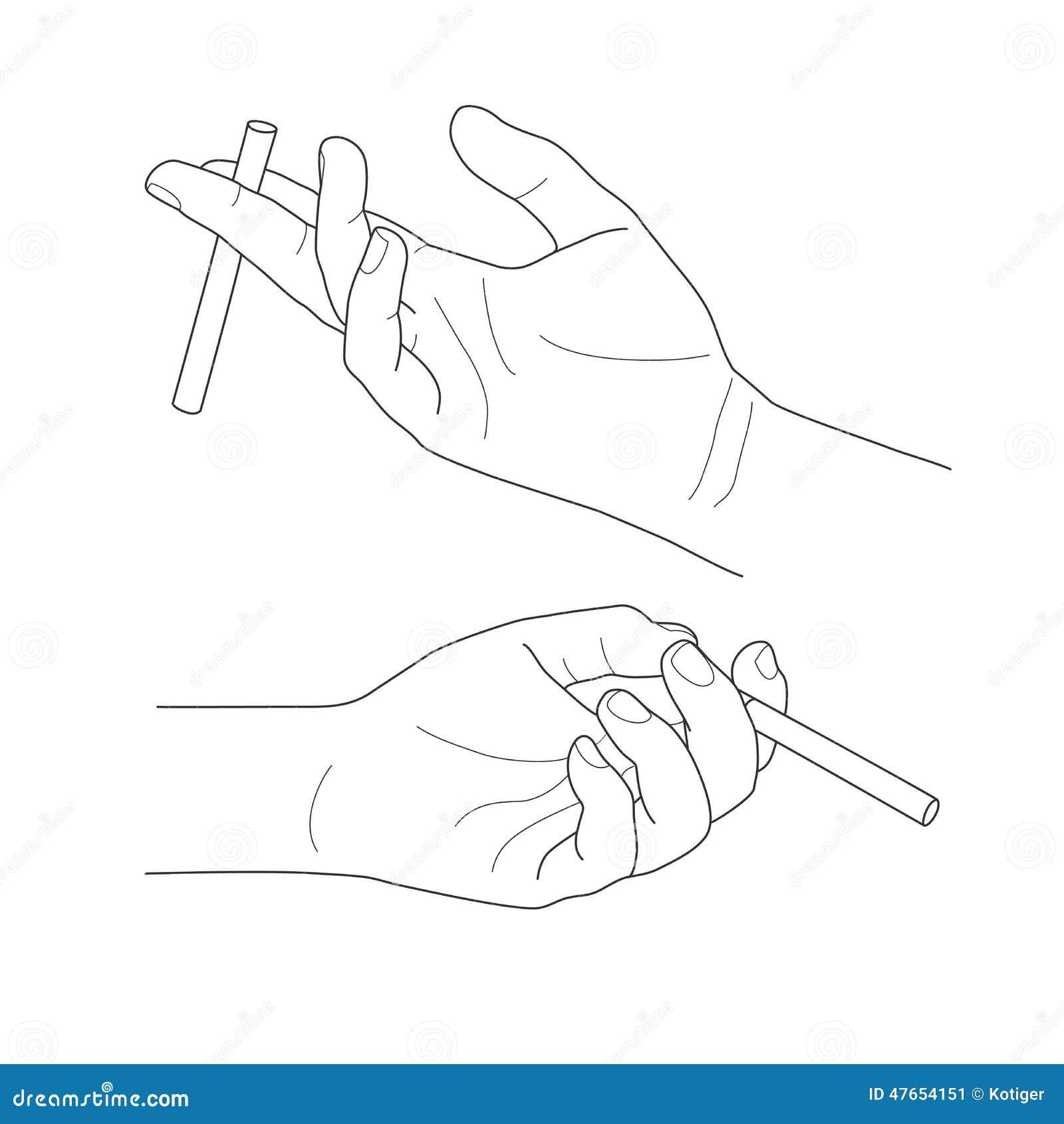 Рисунок руки держащая сигарету