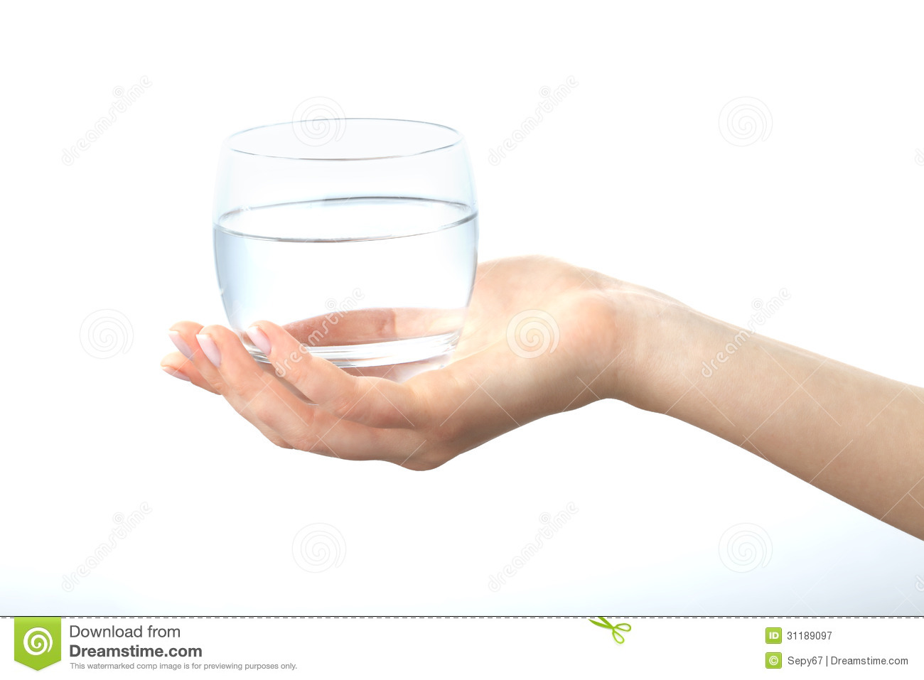A Hand Holding A Clear Glass Of Water Royalty Free Stock