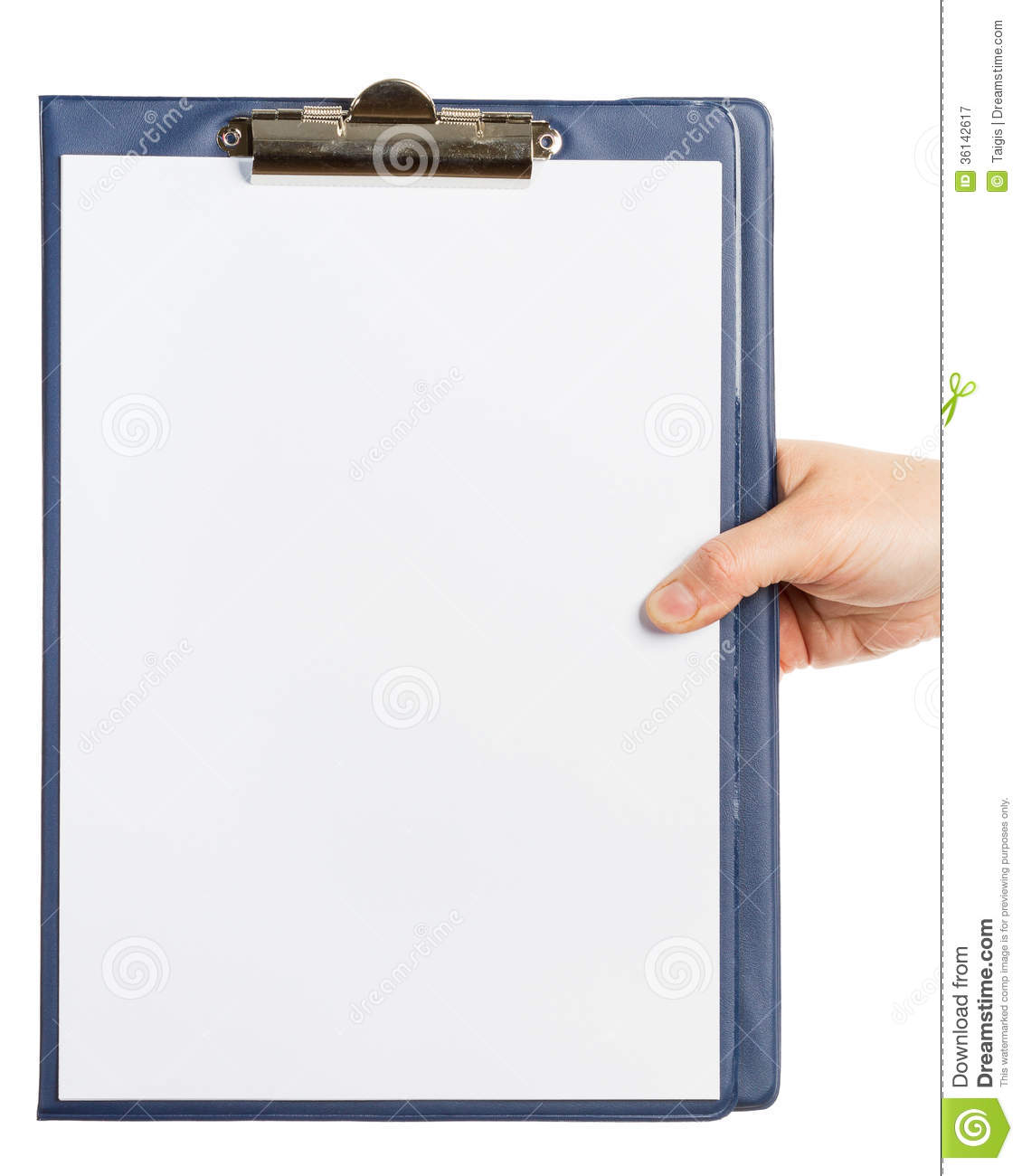 hand holding clipboard royalty free stock photography