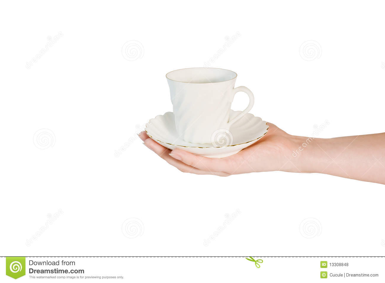 Hand Holding Coffee Cup Stock Photo Image Of Kitchen