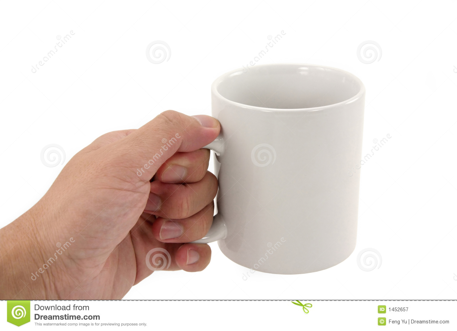 Hand Holding Coffee Mug Stock Image Image Of Isolated