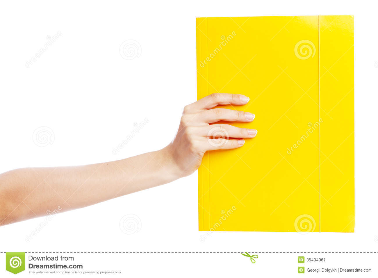 Hand Holding A Document Royalty Free Stock Photography