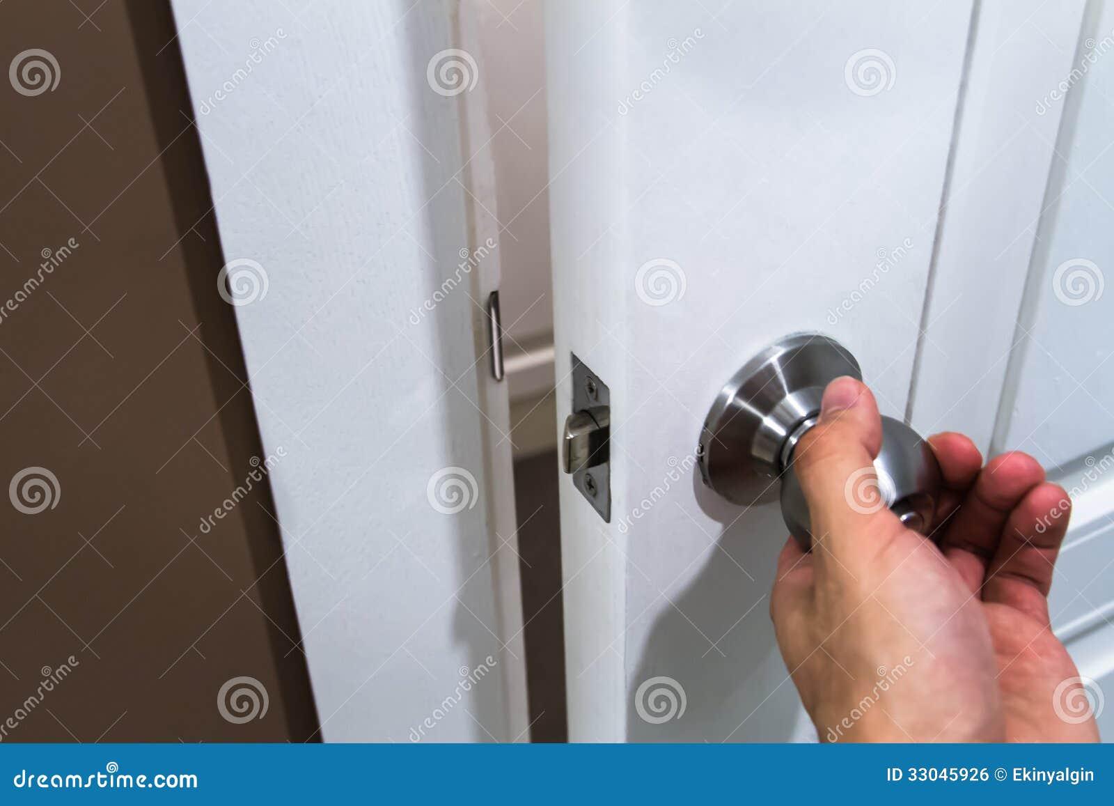Hand Holding Door Knob Royalty Free Stock Image Image