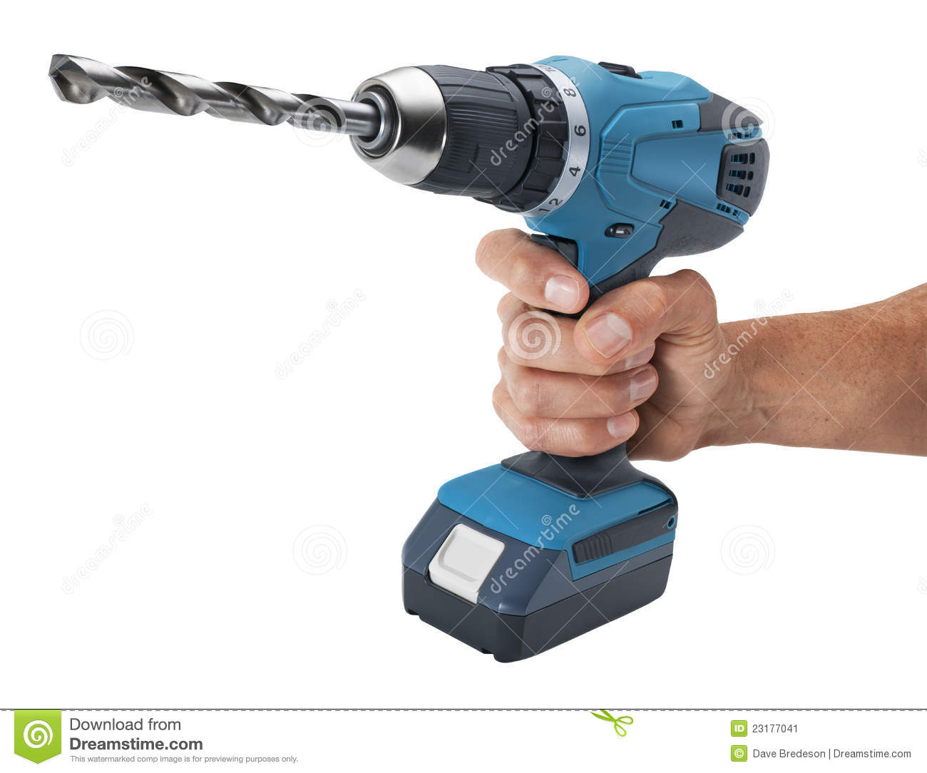 hand holding drill stock image image of trigger cordless. Black Bedroom Furniture Sets. Home Design Ideas