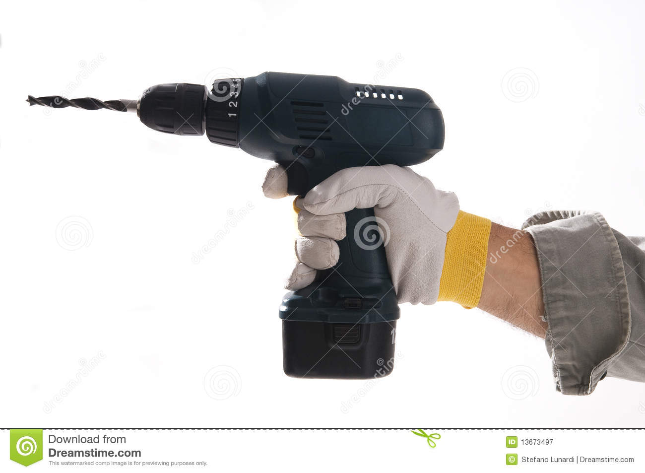 hand drilling machine. royalty-free stock photo. download hand holding drilling machine