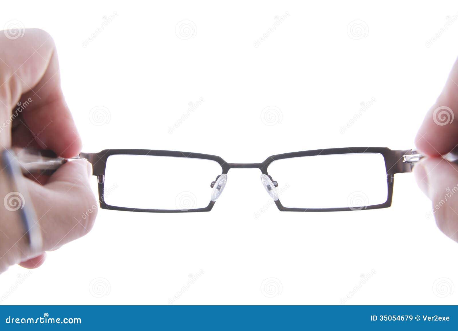 Hand Holding Eye Glasses Stock Image Image Of Background