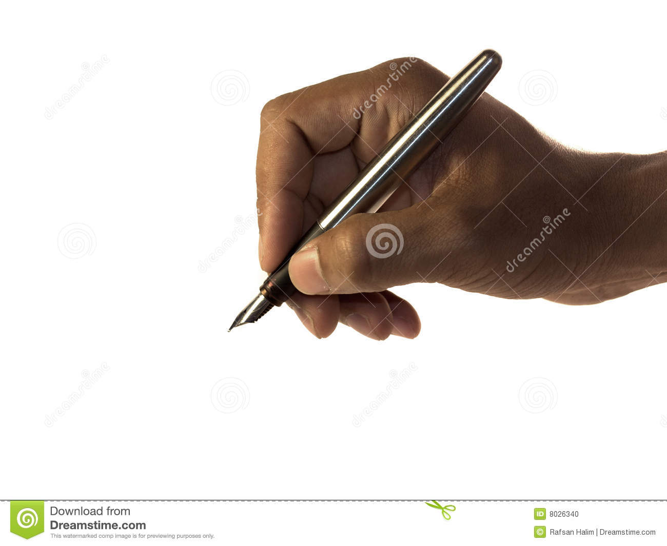 how to hold a pen with stability
