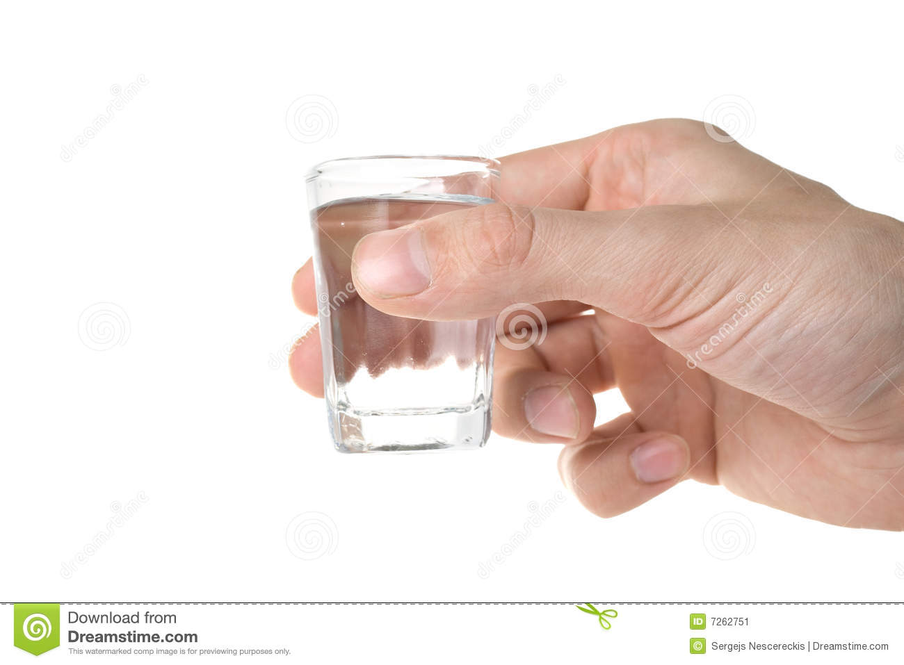 Hand Holding A Glass Stock Image Image 7262751
