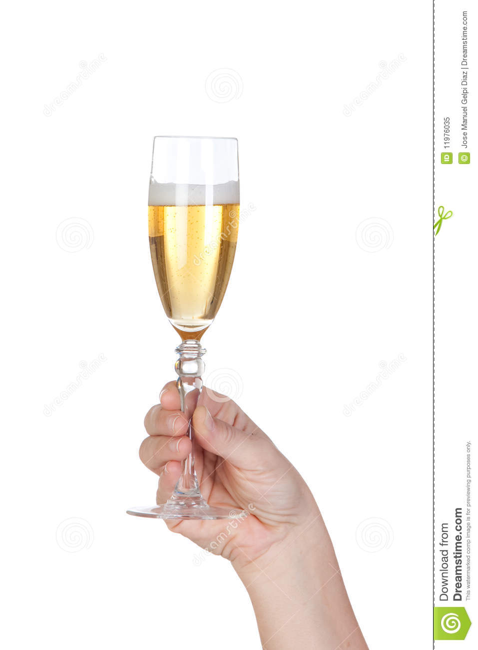 Hand Holding Glass Of Champagne Royalty Free Stock Photo