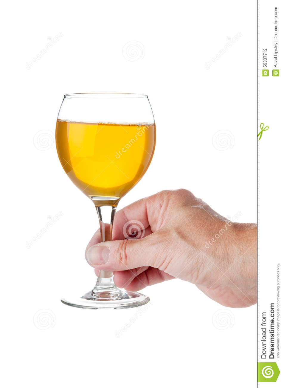 Hand Holding Glass Goblet With Wine Stock Photo Image