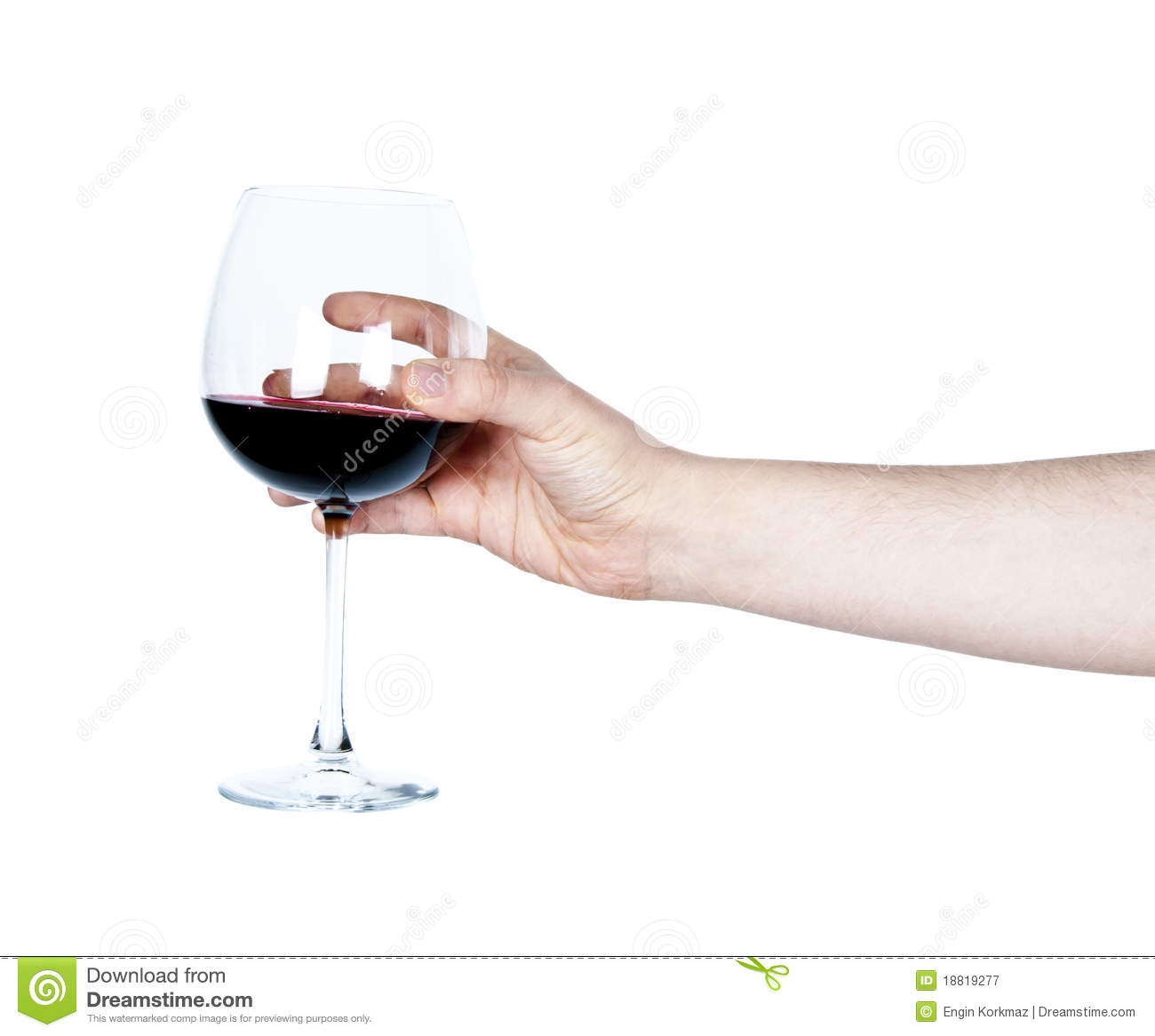 Hand Holding A Glass Of Red Wine Stock Image Image 18819277
