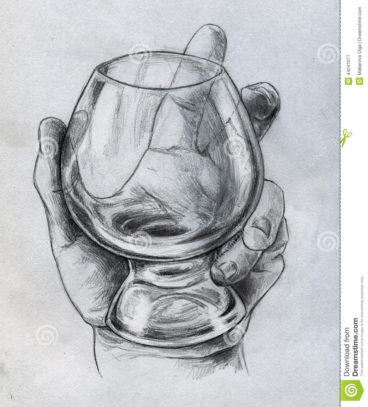 Hand Holding Glass - Sketch Stock Illustration - Image ...