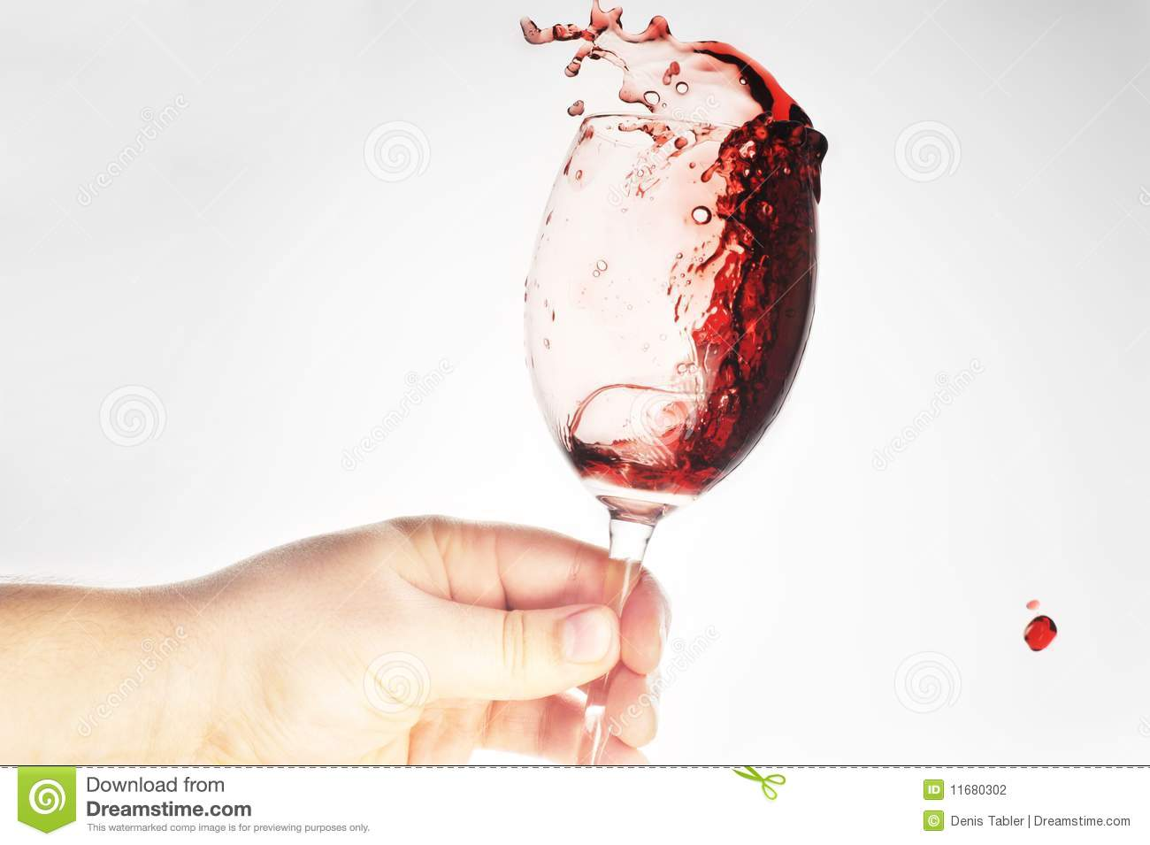 Hand Holding Glass With Wine Stock Photography - Image: 11680302