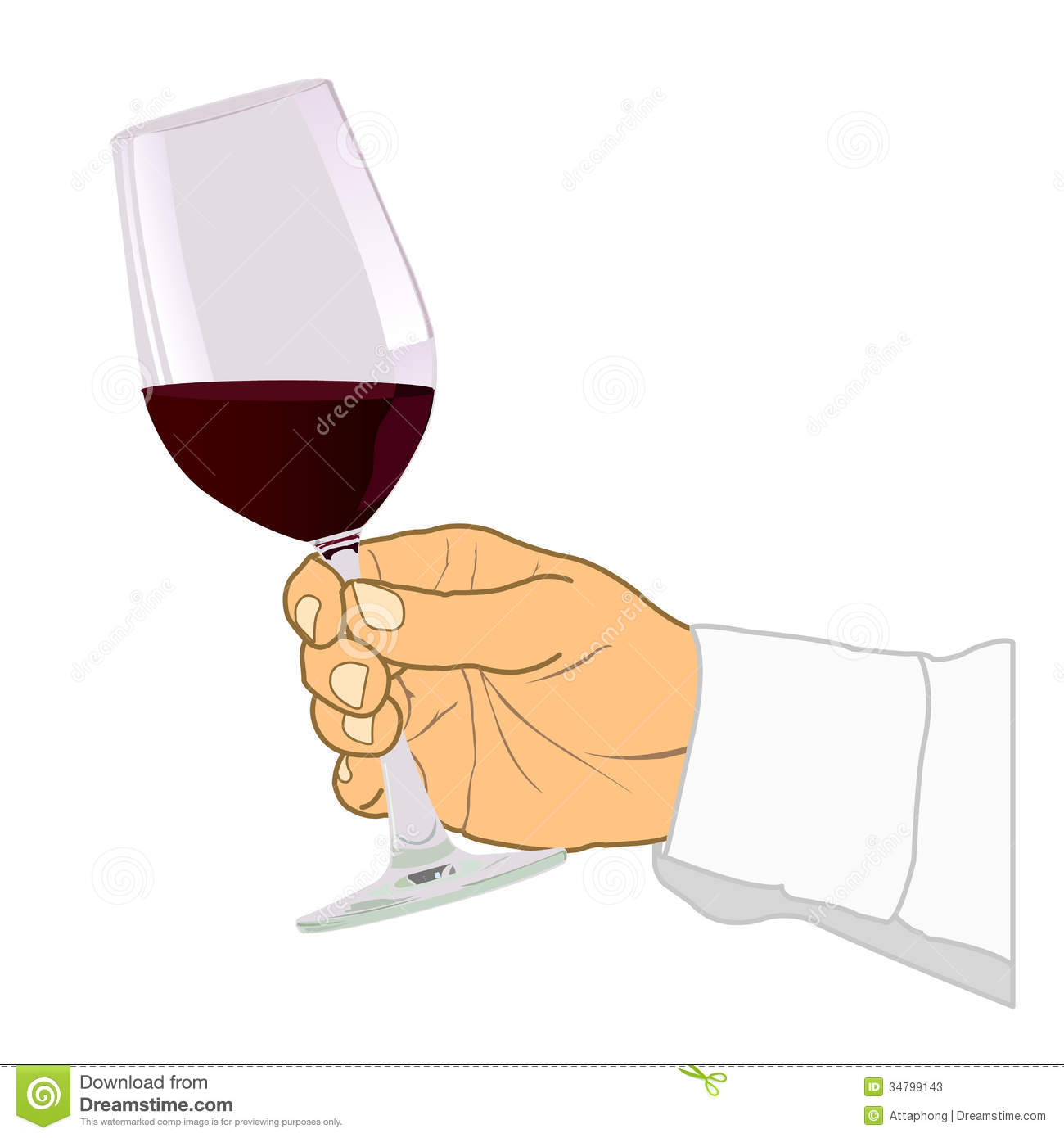 hand holding glass of wine vector stock photos image 34799143. Black Bedroom Furniture Sets. Home Design Ideas