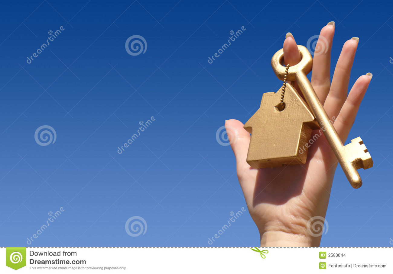 Download Hand holding golden key stock photo. Image of house, hold - 2580044