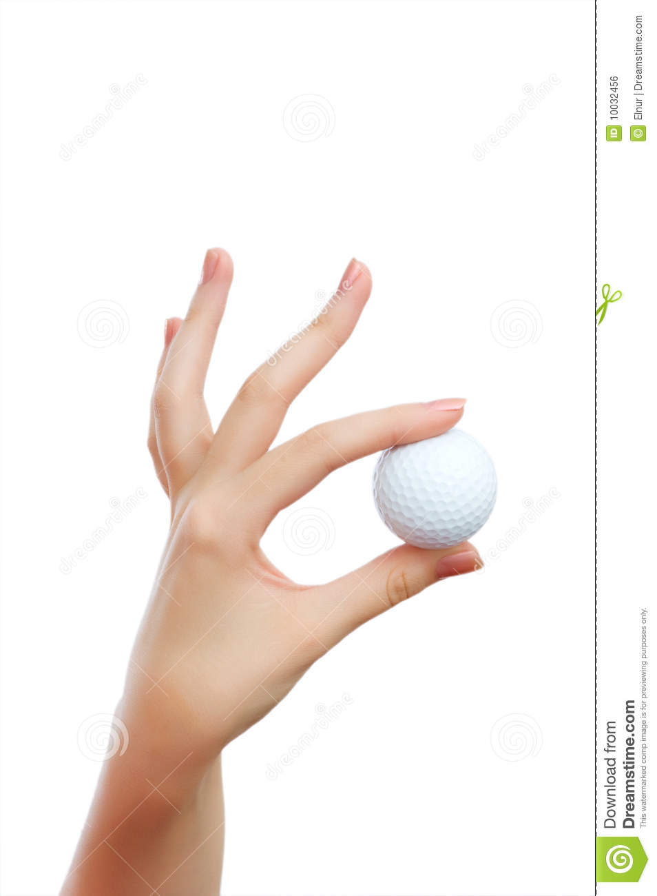 Hand Holding Golf Ball Royalty Free Stock Image - Image: 10032456