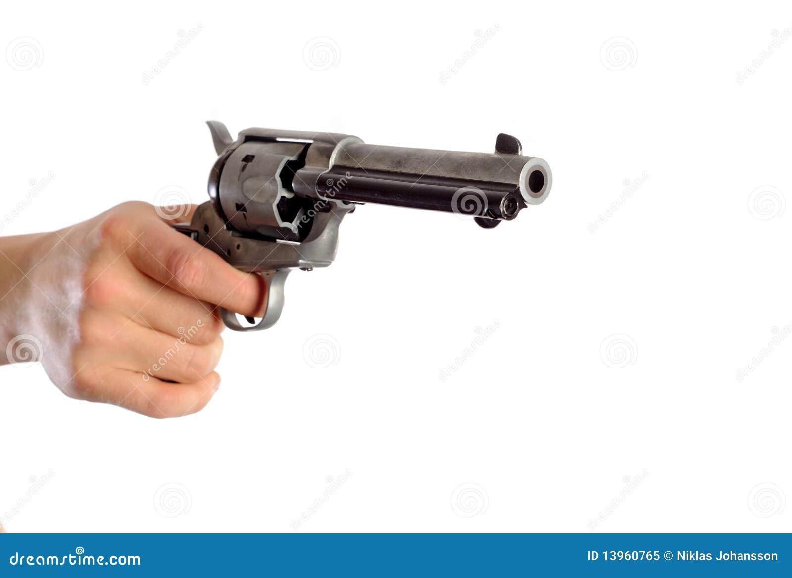 Hand Holding Gun Royalty Free Stock Photo - Image: 13960765