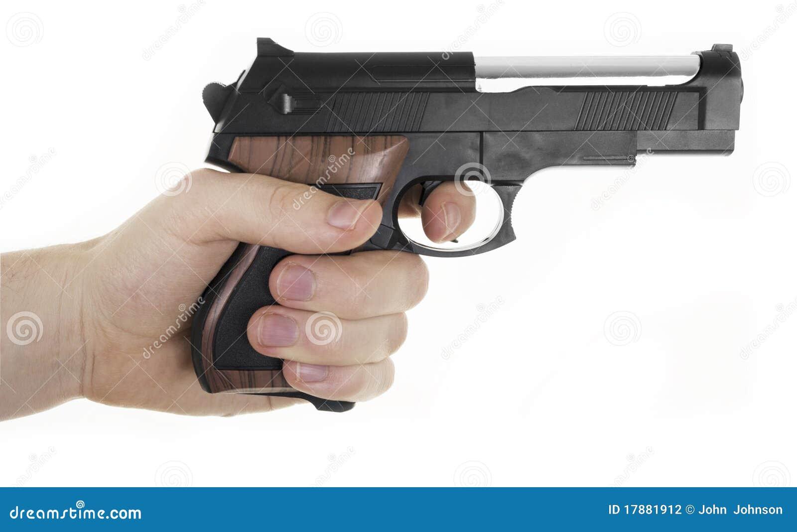 Hand Holding Gun Stock Photography - Image: 17881912