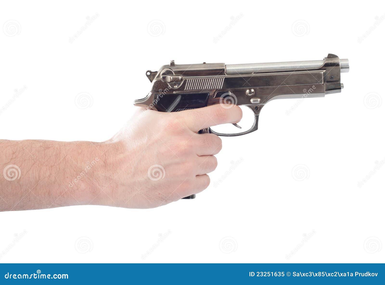 Hand Holding Gun Royalty Free Stock Photo - Image: 23251635