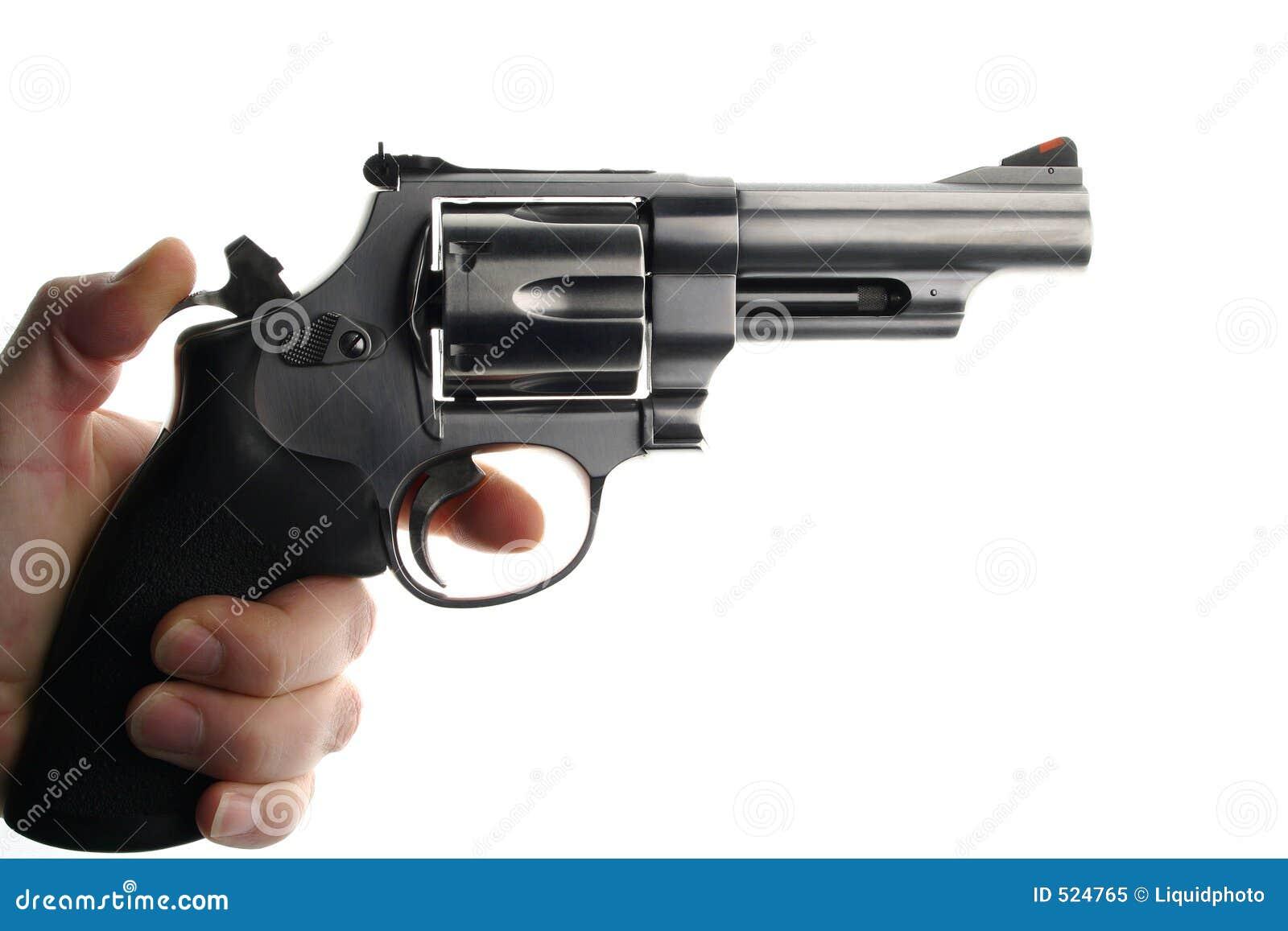 Hand Holding Handgun Or Pistol Royalty Free Stock Photo ...