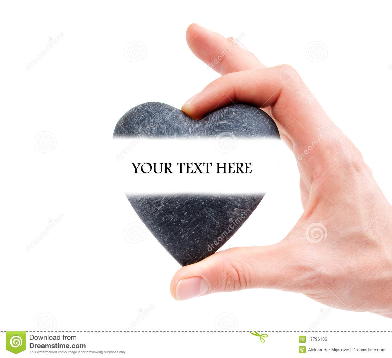 Hand Holding Heart With Space For Text Stock Photo - Image ...