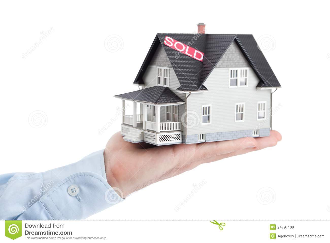 hand holding house architectural model isolated royalty free