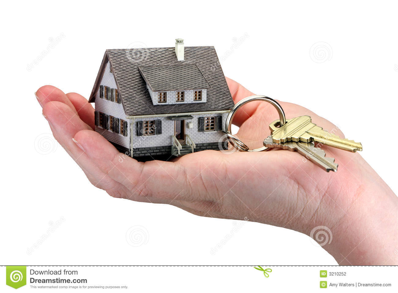 Achete Une Maison Of Hand Holding House Keys Stock Photo Image Of Ownership