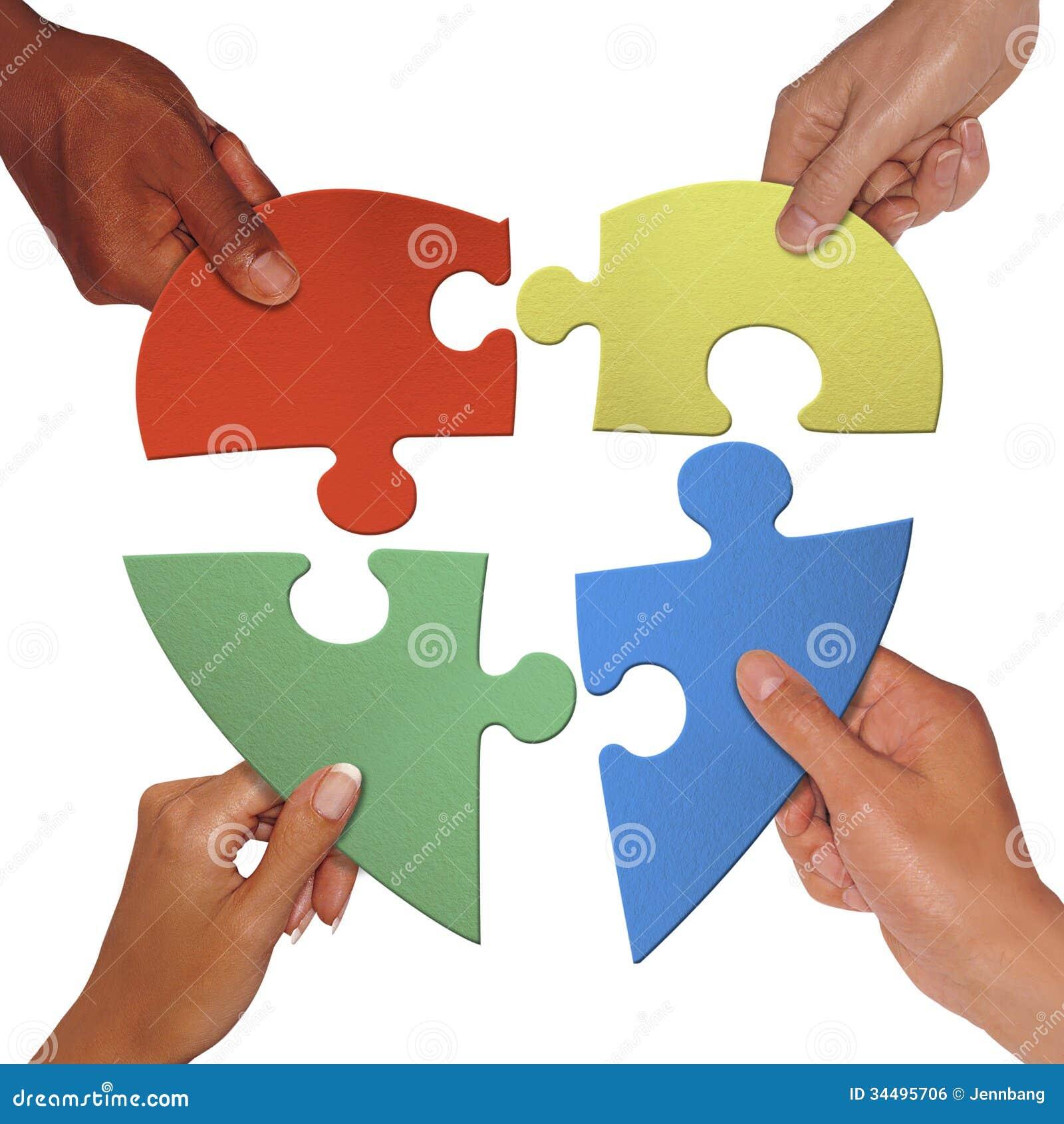hand holding love shape puzzle stock illustration