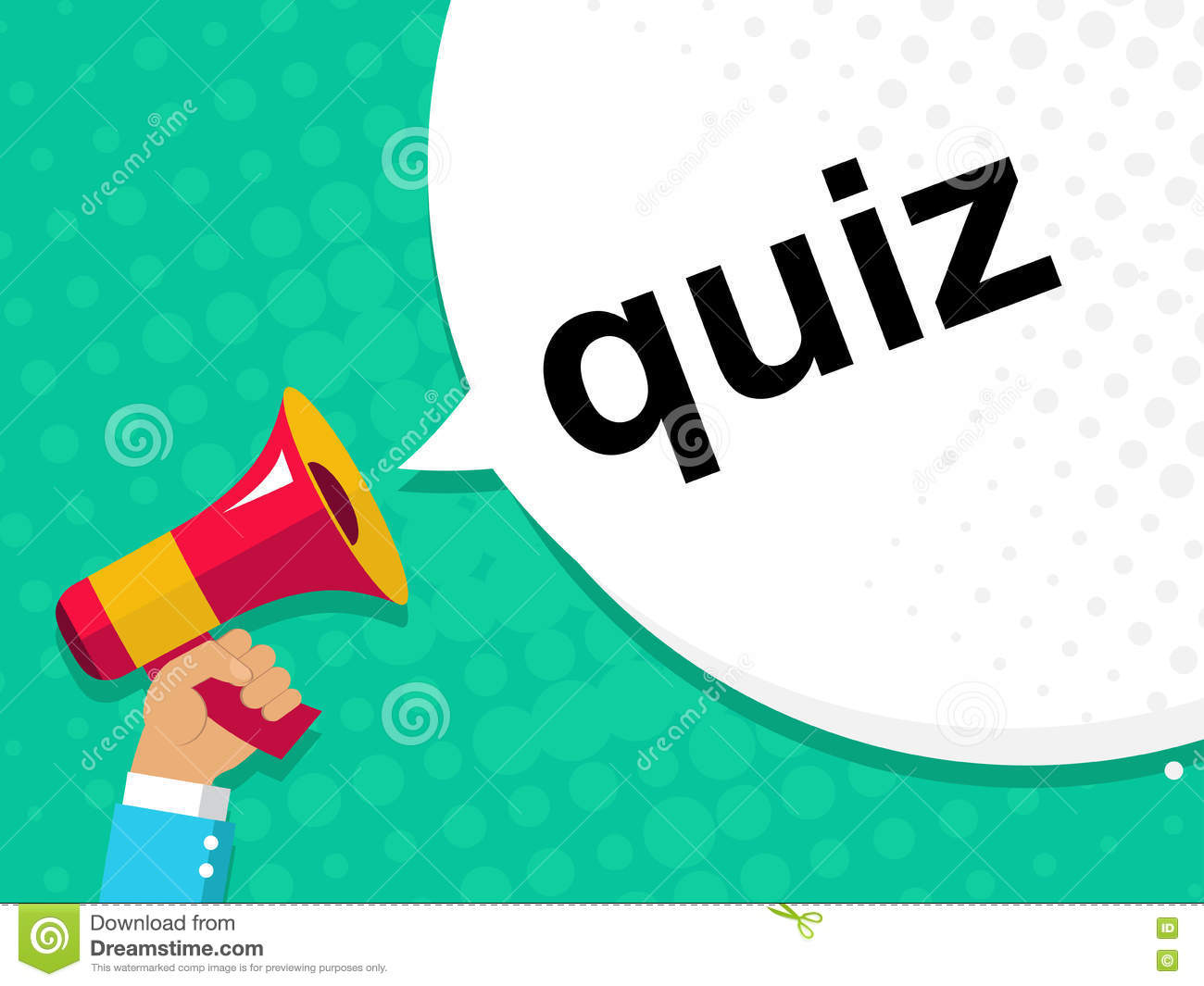Cartoon Quiz Sign With Speech Bubble Stock Image 52967947