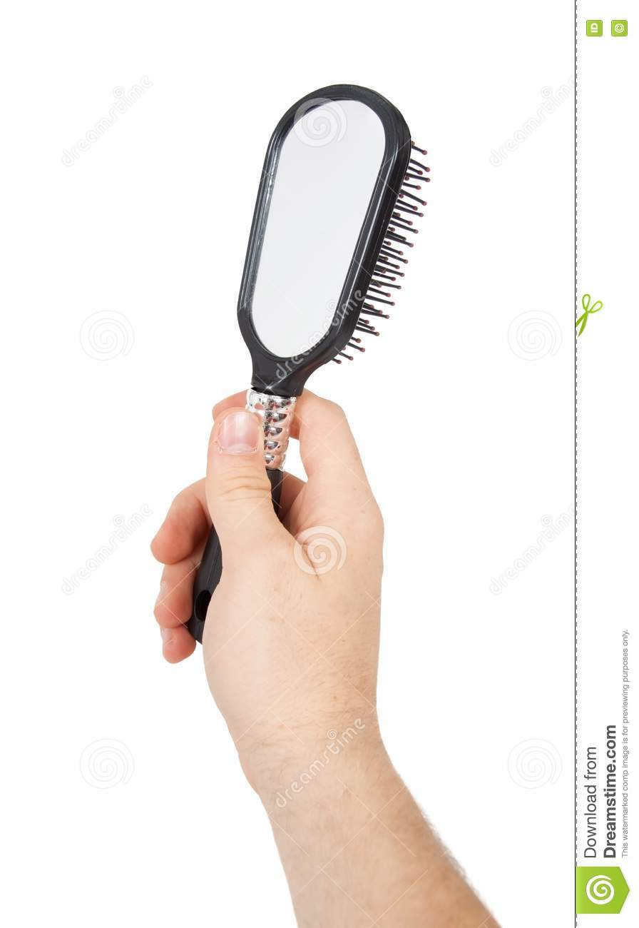 Hand Holding A Mirror Stock Image Image Of Looking Shine