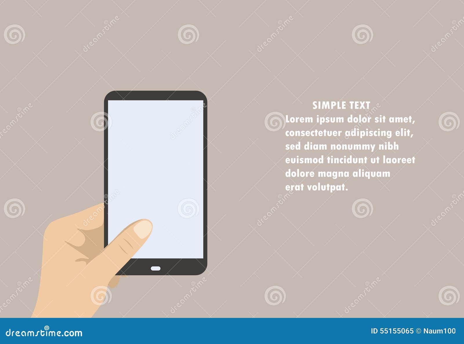 Hand Holding Mobile Phone Illustration Stock Vector ...