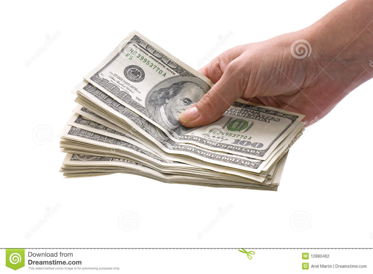 Hand Holding Money Stock Photography - Image: 12880462Holding Money In Hand