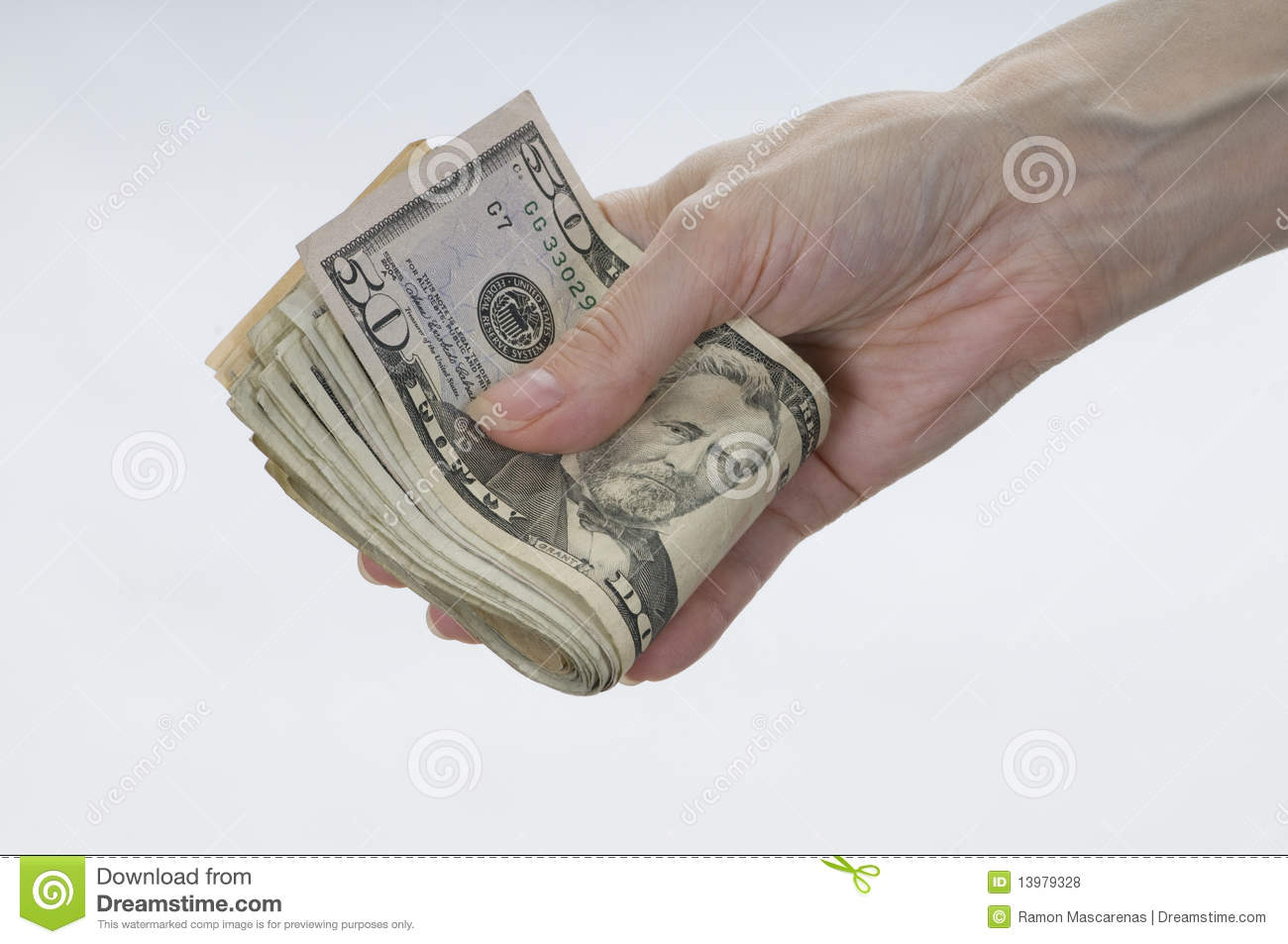 Hand Holding Money. Royalty Free Stock Photos - Image ...Holding Money In Hand