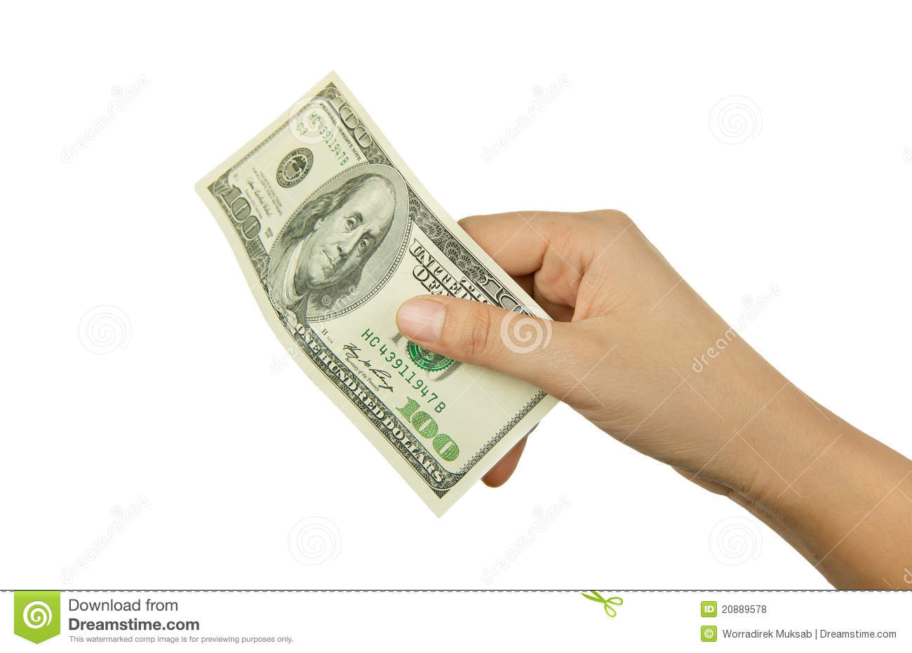 Hand Holding Money Royalty Free Stock Photos - Image: 20889578Holding Money In Hand