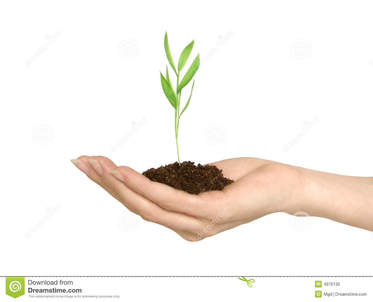 Soil Bag Clipart Female hand holding a ...