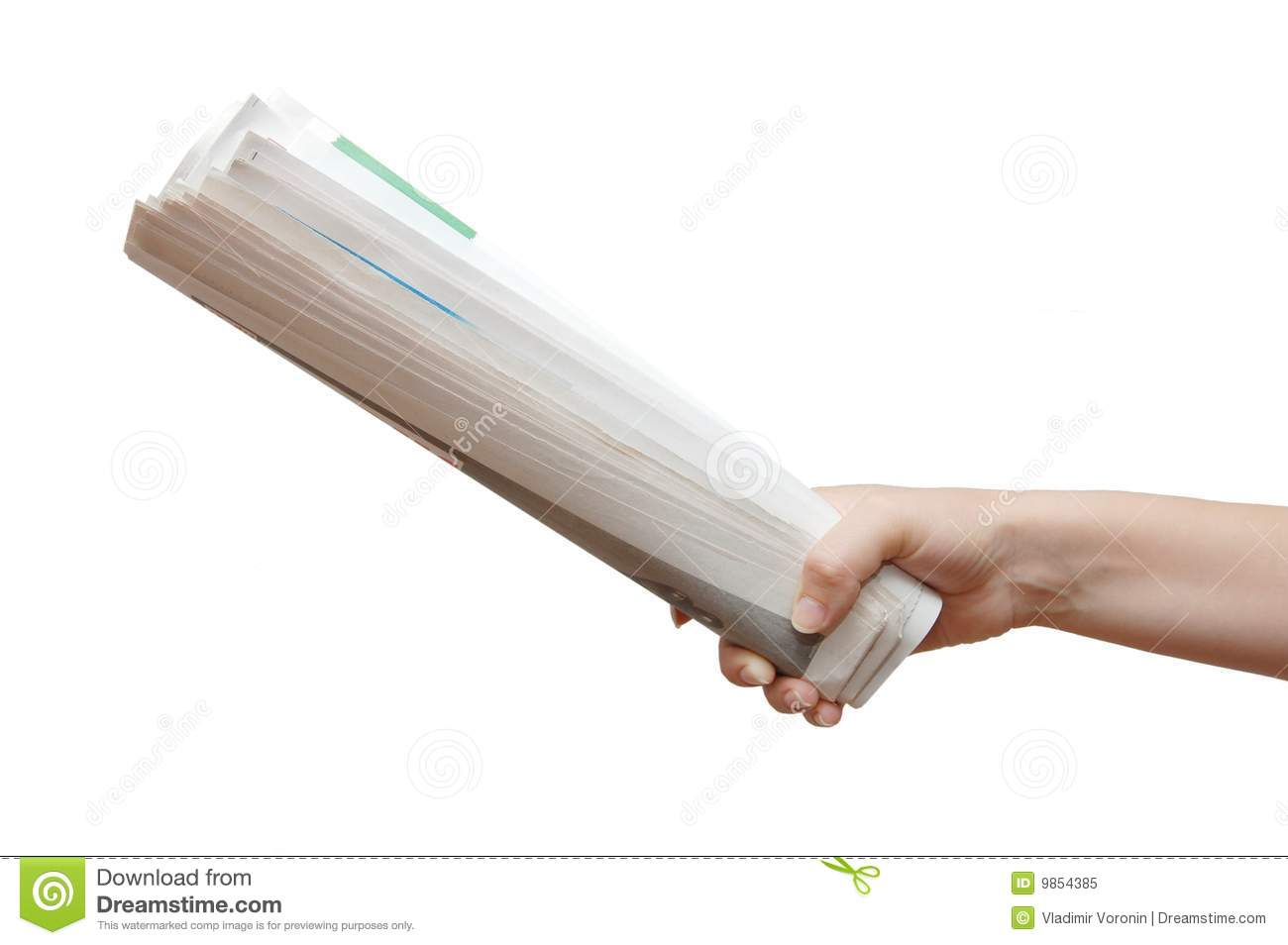 Hand Holding A Newspaper Royalty Free Stock Photo - Image ...