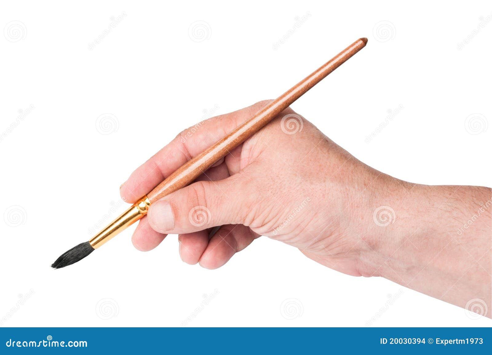 Hand Holding Paint Brush Clipart