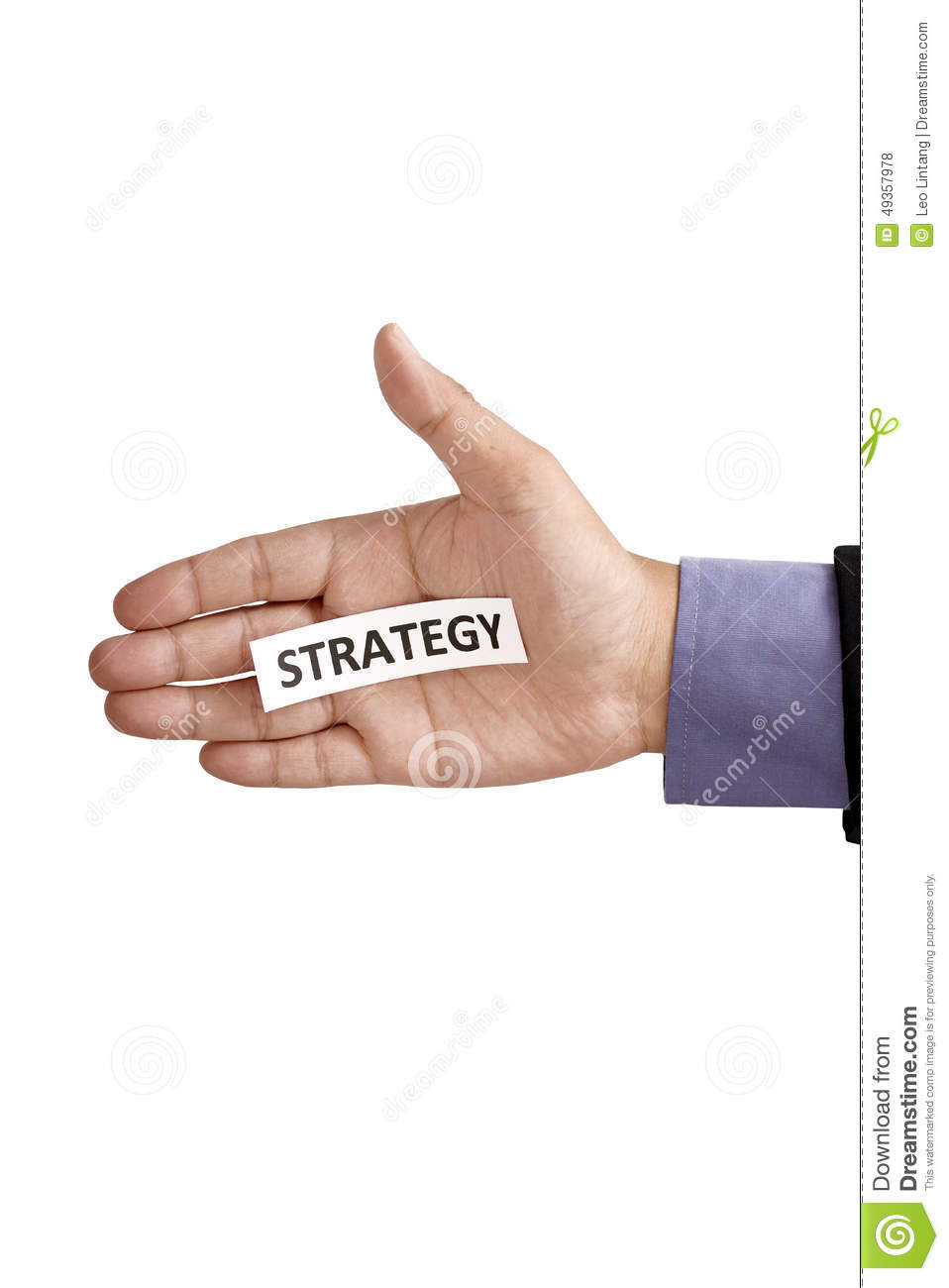 Hand Holding Paper With Strategy Text Stock Photo - Image ...