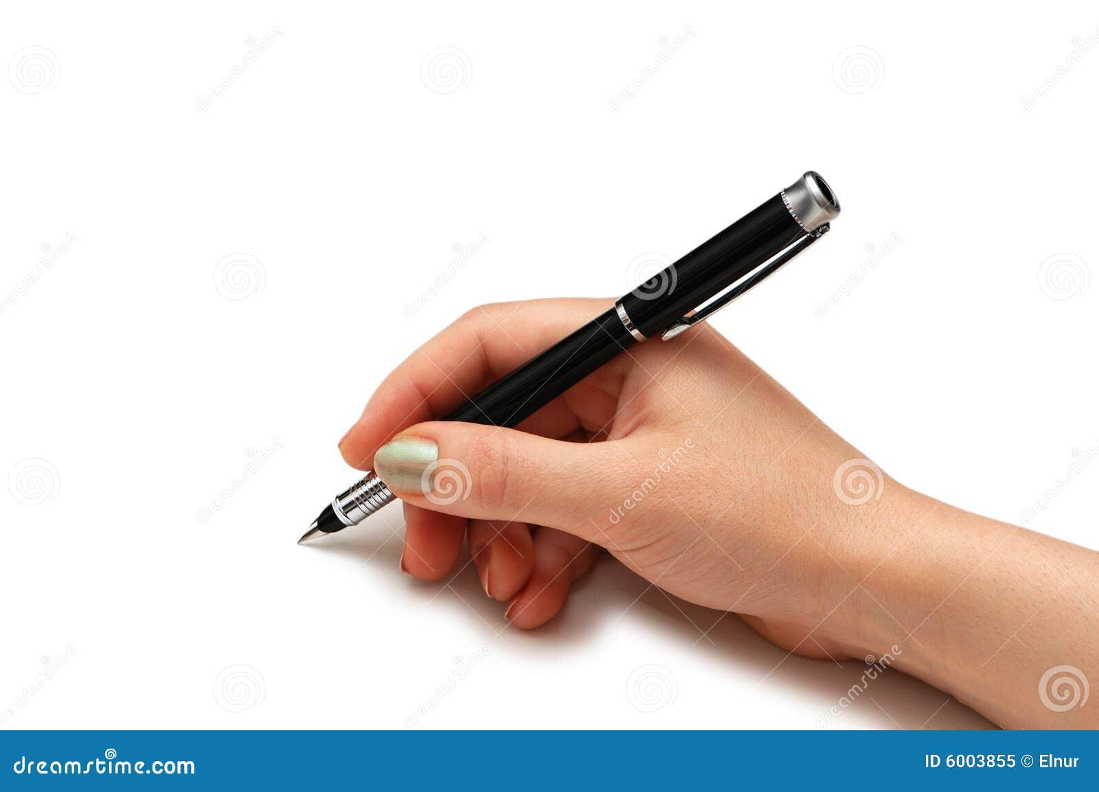 Hand Holding Pen Isolated Royalty Free Stock Photo - Image: 6003855