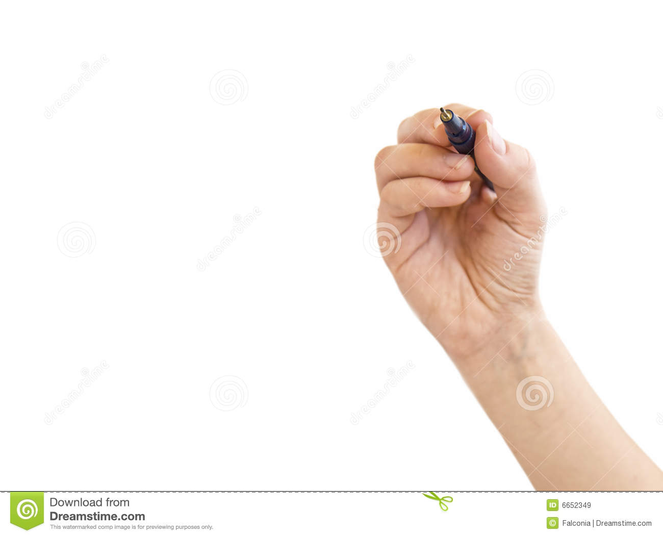 Royalty Free Stock Images: Hand holding pen, space for ...