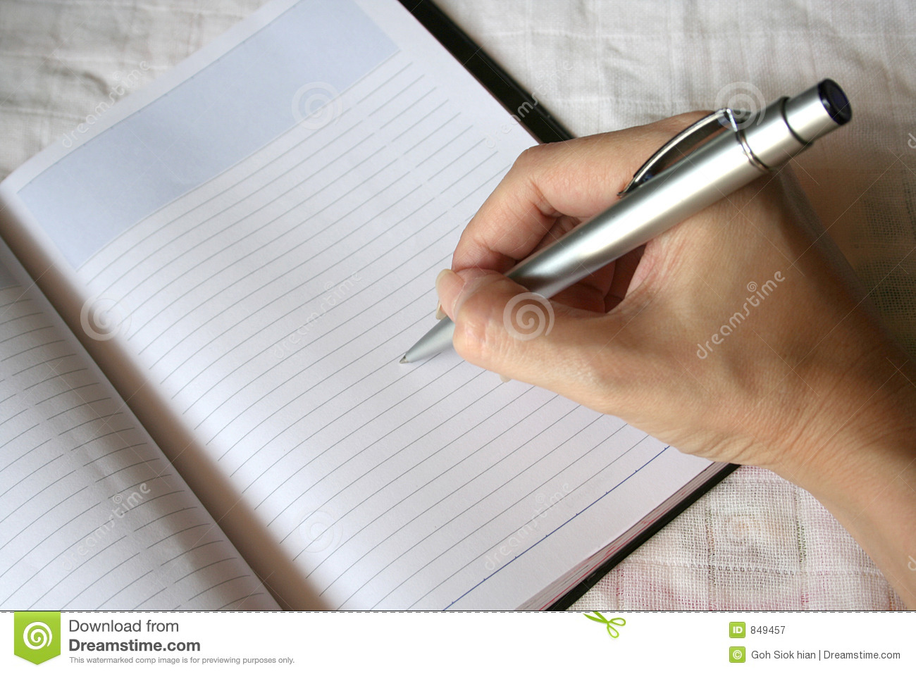 size of writing paper derived from watermark
