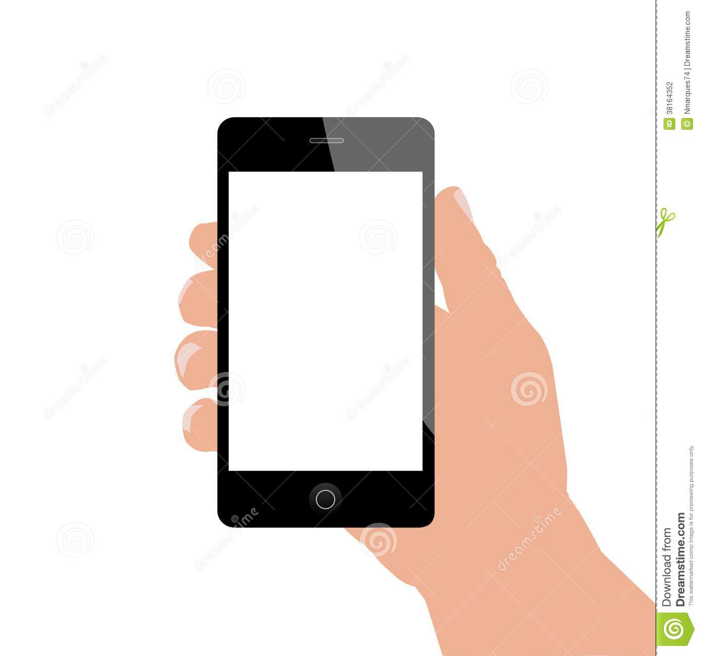 Hand Holding Phone, Vector Illustration Stock Vector ...