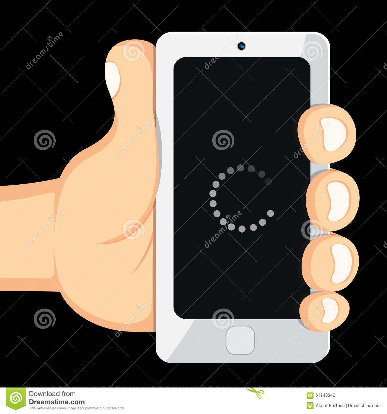 Hand Holding Phone Stock Vector - Image: 61940342