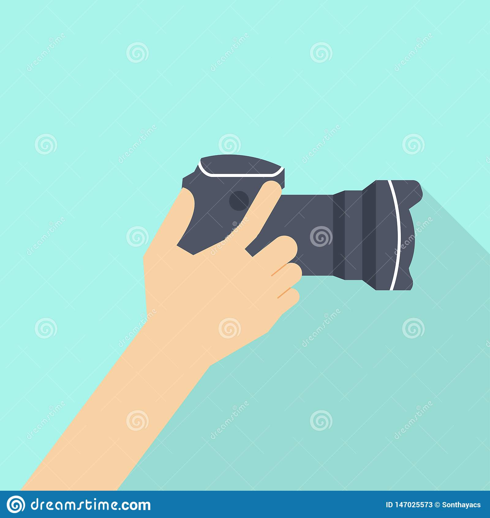Hand Holding Photo Camera